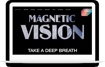 Computadora con pagina Magnetic vision media